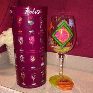 Lolita 'Love My Letter D' Wine Glass